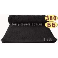 Полотенце 30х50 см черного цвета 380 г/м2
