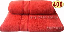 Полотенце 100х150 см кирпичного цвета 400 г/м2
