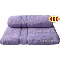 Полотенце 100х150 см светло-фиолетового цвета 400 г/м2