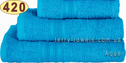 Полотенце 70х140 см ярко-синего цвета 420 г/м2