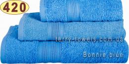 Полотенце 40х70 см голубого цвета 420 г/м2