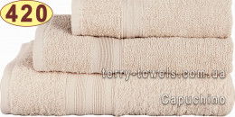 Полотенце 50х90 см светло-бежевого цвета 420 г/м2