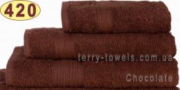Полотенце 40х70 см шоколадного цвета 420 г/м2