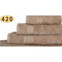 Полотенце 40х70 см кофейного цвета 420 г/м2