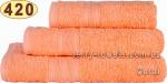 Рушник 40х70 см коралового кольору 420 г/м2