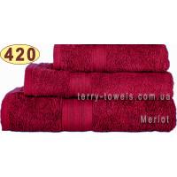 Полотенце 70х140 см бордового цвета 420 г/м2