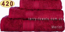 Полотенце 40х70 см бордового цвета 420 г/м2