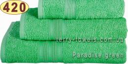Полотенце 40х70 см салатового цвета 420 г/м2