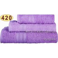Полотенце 40 х 70 см светло-фиолетового цвета 420 г/м2