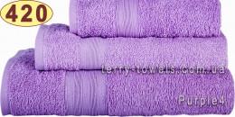 Полотенце 50 х 90 см светло-фиолетового цвета 420 г/м2