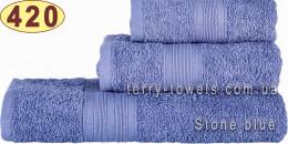 Полотенце 40х70 см серо-голубого цвета 420 г/м2