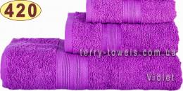 Полотенце 50х90 см фиолетового цвета 420 г/м2