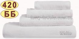 Полотенце 70х140 см белого цвета 420 г/м2