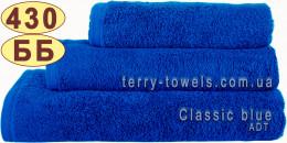 Полотенце 40х70 см синего цвета 430 г/м2