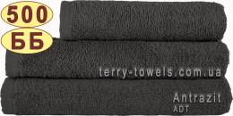 Полотенце 40х70 см серого цвета 500 г/м2