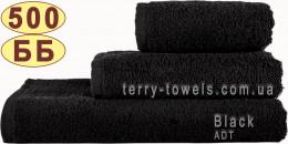 Полотенце 40х70 см черного цвета 500 г/м2