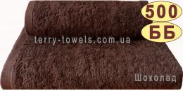 Полотенце 40х70 см шоколадного цвета 500 г/м2
