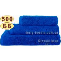 Полотенце 70х140см синего цвета 500 г/м2