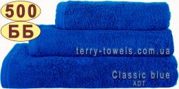 Полотенце 50х90 см синего цвета 500 г/м2