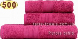 Полотенце 50х90 см розового цвета 500 г/м2