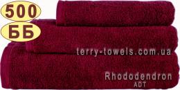 Полотенце 50х90 см бордового цвета 500 г/м2