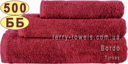 Полотенце 50х90 см бордового цвета 500 г/м2 Турция