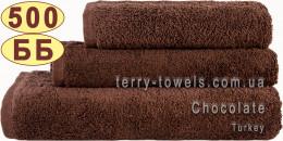 Полотенце 50х90 см шоколадного цвета 500 г/м2 Турция