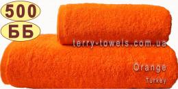 Полотенце 50х90 см оранжевого цвета 500 г/м2 Турция