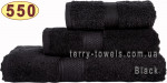 Полотенце 70х140 см черного цвета 550 г/м2