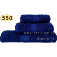 Полотенце 70х140 см темно-синего цвета 550 г/м2