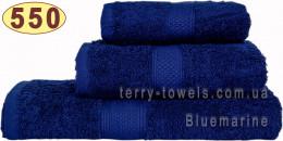 Полотенце 50х100 см темно-синего цвета 550 г/м2