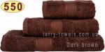 Полотенце 70х140 см шоколадного цвета 550 г/м2