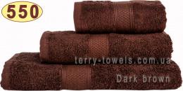 Полотенце 50х100 см шоколадного цвета 550 г/м2
