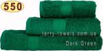 Полотенце 50х100 см темно-зеленого цвета 550 г/м2