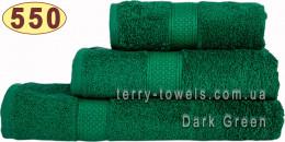 Полотенце 50х70 см темно-зеленого цвета 550 г/м2