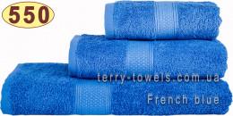 Полотенце 50х100 см синего цвета 550 г/м2