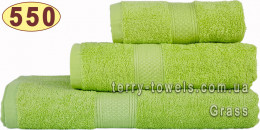 Полотенце 70х140 см салатового цвета 550 г/м2
