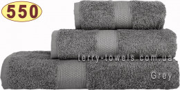 Полотенце 70х140 см серого цвета 550 г/м2