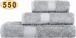 Полотенце 50х70 см лилово-серого цвета 550 г/м2