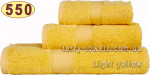 Рушник 70х140 см світло-жовтого кольору 550 г/м2