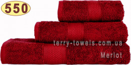 Полотенце 50х100 см бордового цвета 550 г/м2
