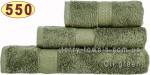 Полотенце 70х140 см светло-оливкового цвета 550 г/м2
