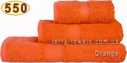 Полотенце 50х100 см оранжевого цвета 550 г/м2