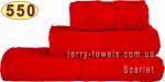 Рушник 70х140 см червоного кольору 550 г/м2