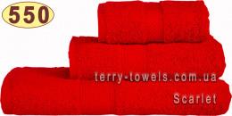 Полотенце 50х100 см красного цвета 550 г/м2