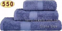 Полотенце 50х100 см серо-голубого цвета 550 г/м2