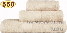 Полотенце 70х140 см ванильного цвета 550 г/м2