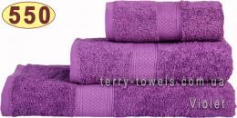 Полотенце 70х140 см фиолетового цвета 550 г/м2