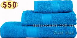 Полотенце 50х100 см ярко-синего цвета 550 г/м2