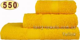 Полотенце 50х100 см желтого цвета 550 г/м2